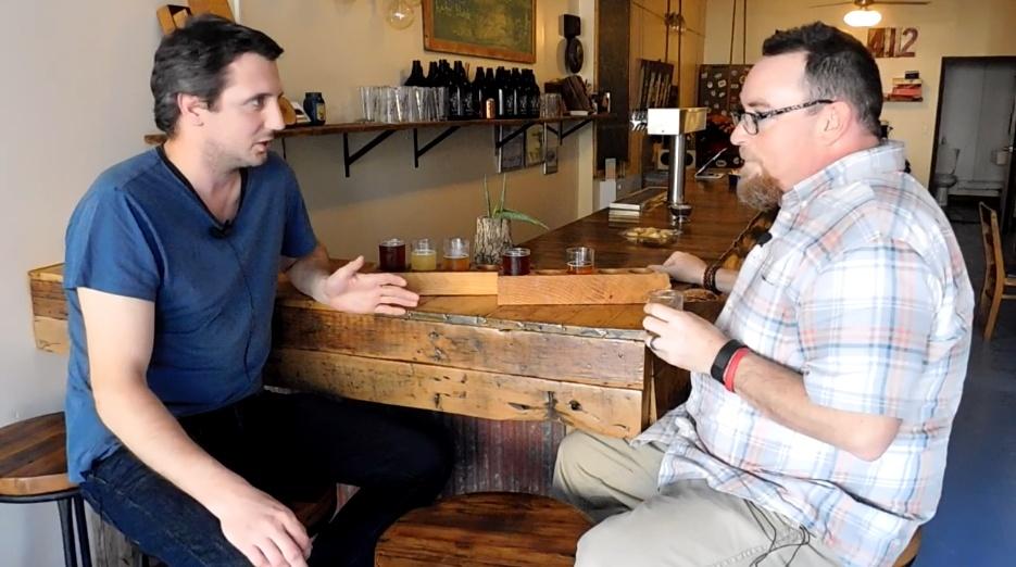 Allegheny City's Al Grasso and Mike taste the brewery's Nova Gose.