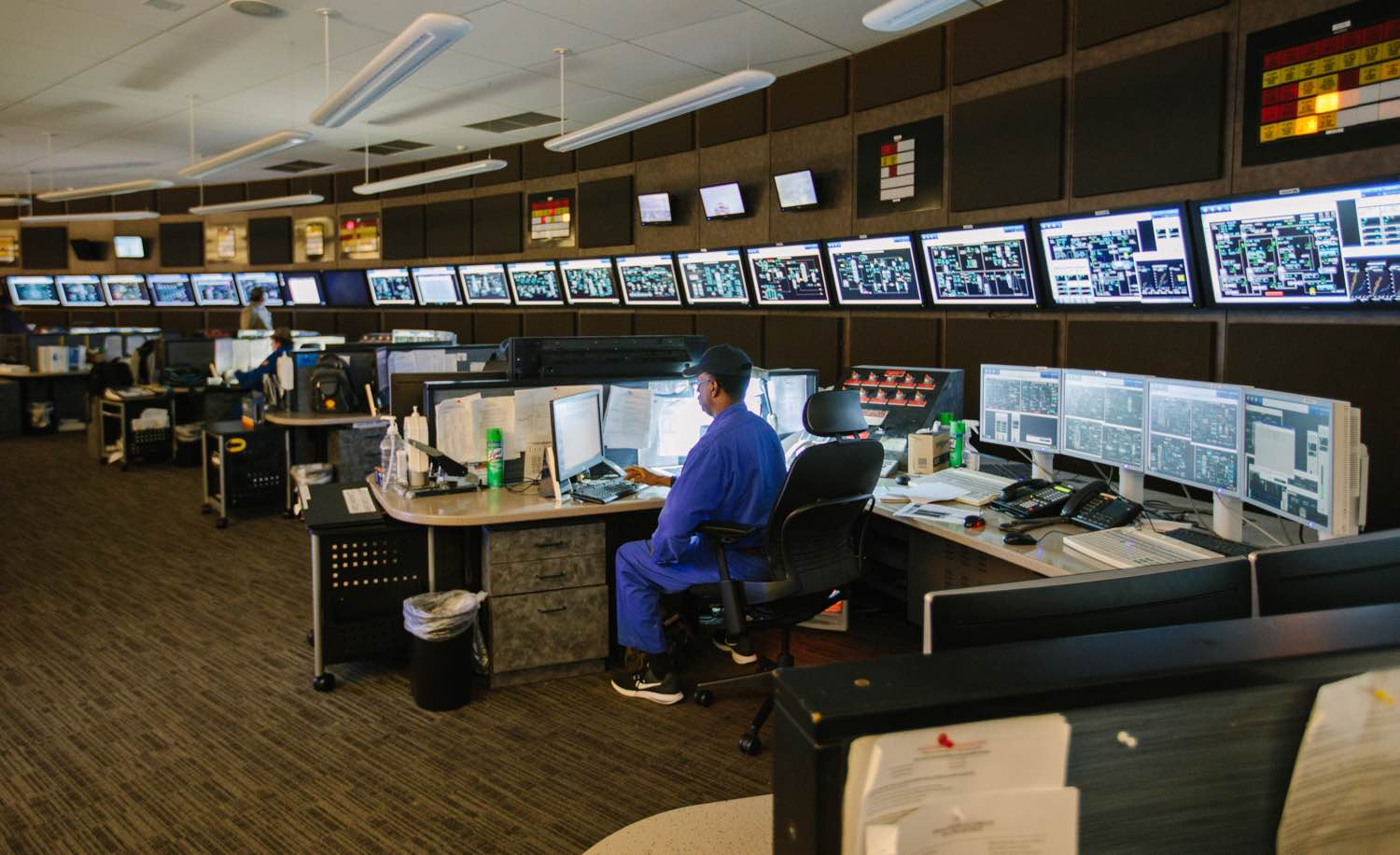 Chemical Plant Control Room  S