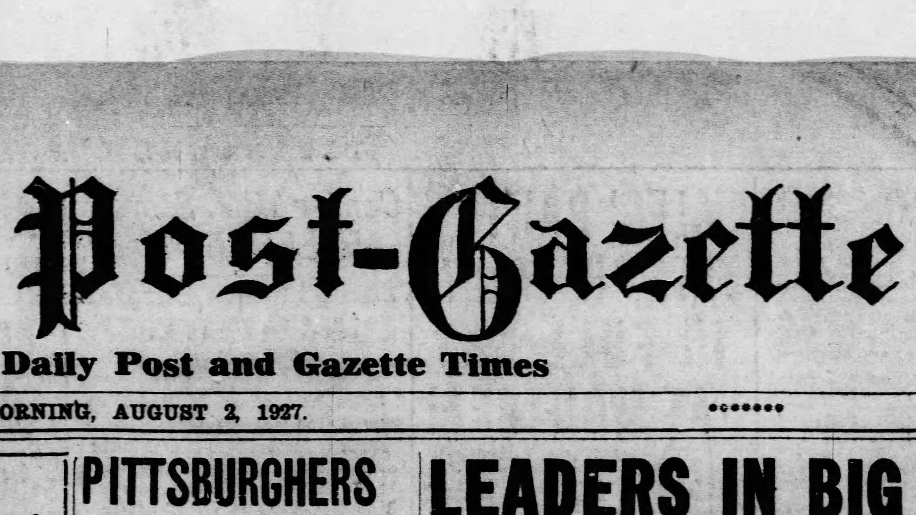 The Pittsburgh Post-Gazette Celebrates 90 Years