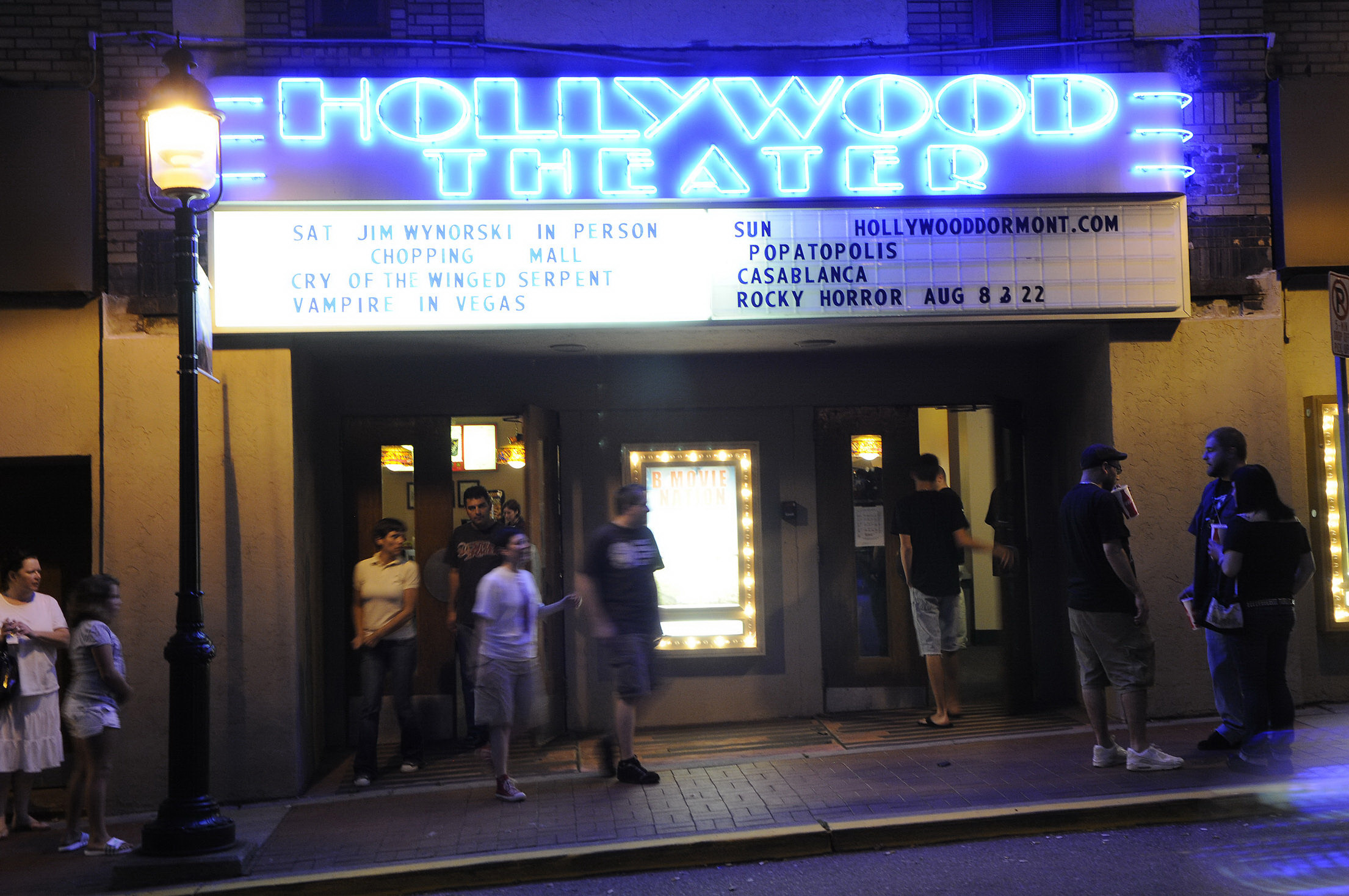 Marquee of Hollywood Theater. (Rebecca Droke/Post-Gazette)