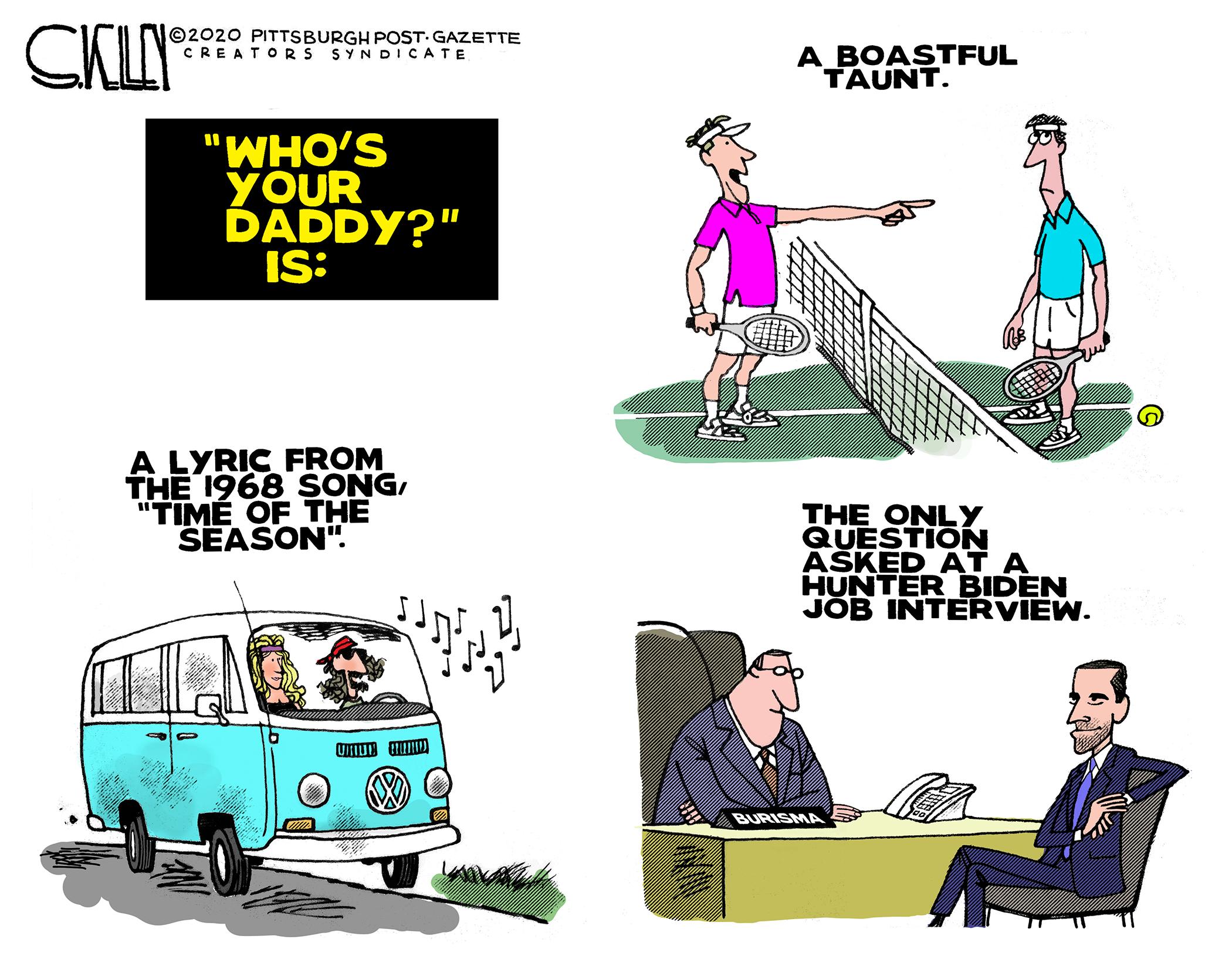 Hunter Biden Steve Kelley Pittsburgh Post Gazette Editorial Cartoonist