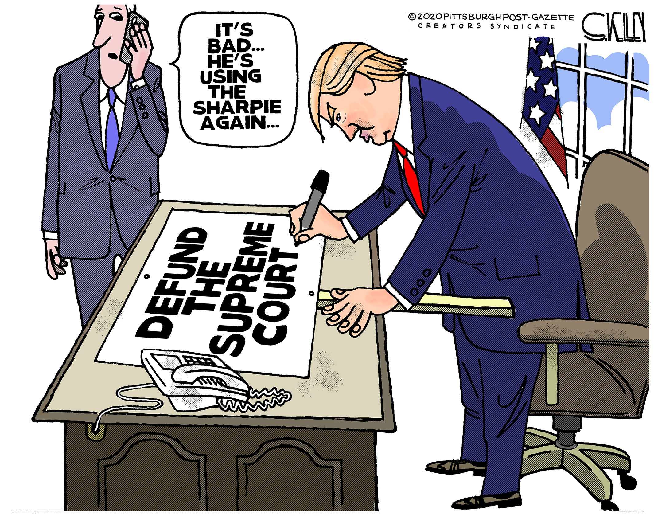 Donald Trump Steve Kelley Pittsburgh Post Gazette Editorial Cartoonist