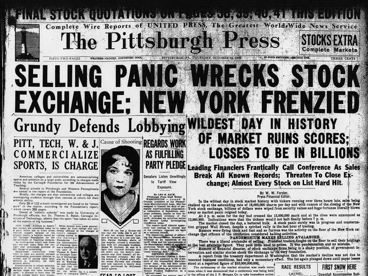 an analysis of the stock market crash of 1929 and the great depression in the early 1930s In the early 1960s friedman  monetary stringency, stock market crash and the great  stock market crash and the great depression 613 5 britain 1929-33 the.