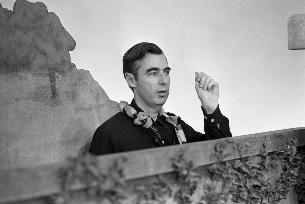 Fred Rogers On The Set