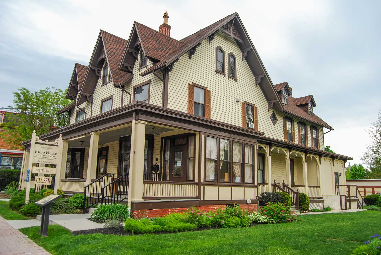 The Rupp House on Baltimore Street in downtown Gettysburg features a museum showing was life was like for civilians during the Civil War, particularly the Rupp family who lived in the home. (Stephanie Ritenbaugh/Post-Gazette)