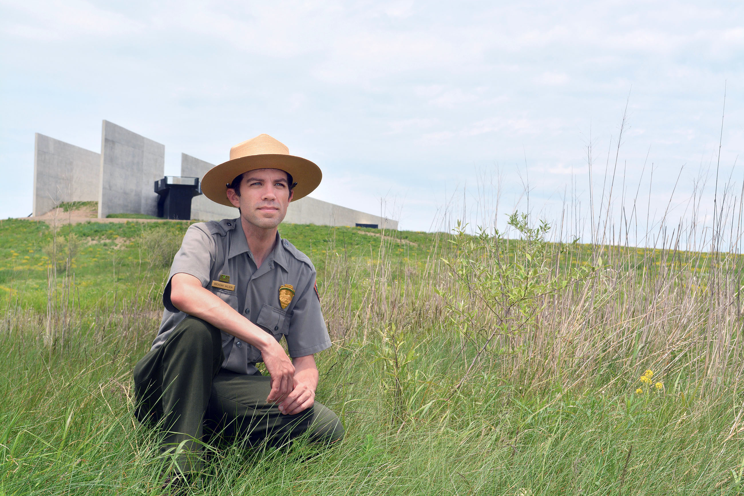 Brendan Wilson is lead park ranger for interpretation at the Flight 93 National Memorial in Somerset County. (National Park Service)