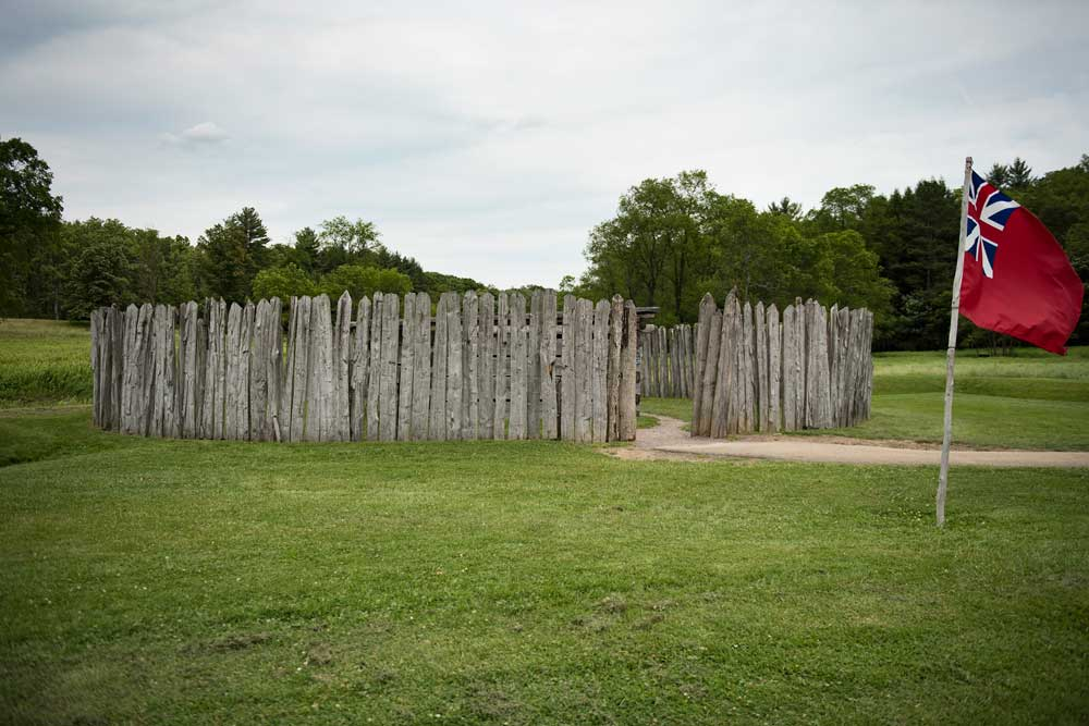 """fort necessity After the skirmish with jumonville's forces, washington feared """"we might be attacked by considerable forces"""" he undertook to fortify his position at the great meadows."""