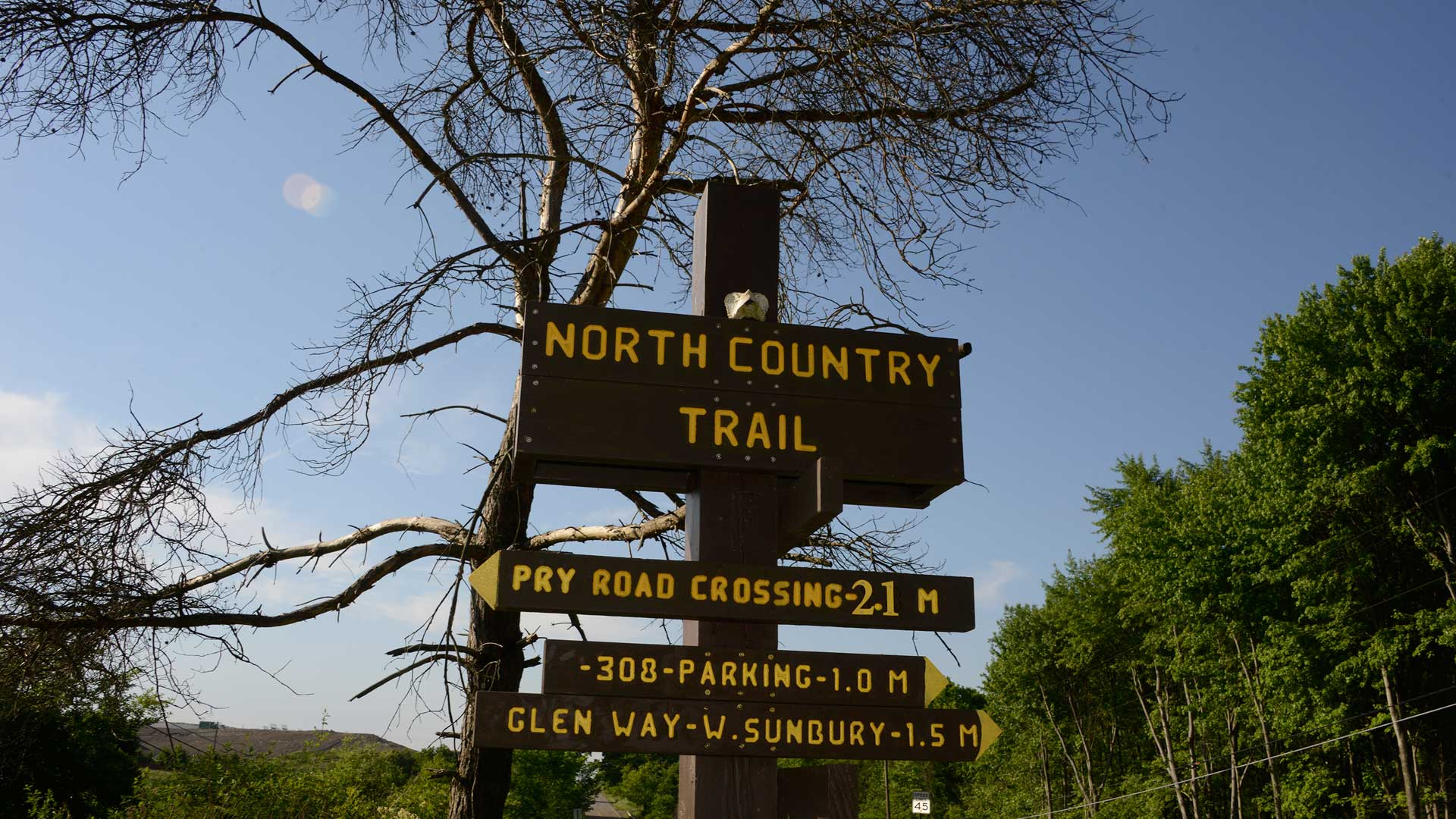North Country National Scenic Trail Signage At Route 308, North Of The  Waste Management Entrance