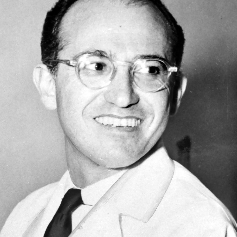 1955 photo of Dr. Jonas E. Salk, Polio Vaccine Pioneer